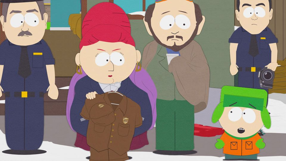 South Park Ups Man